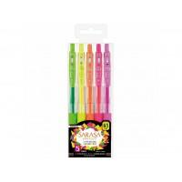Pix cu gel Sarasa Neon 5 culori/set Zebra